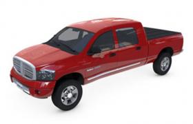 精致輕型載貨汽車紅色四輪皮卡車4S店汽車3D模型展示