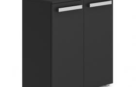 客廳玄關低調奢華現代風格金典黑色格調鞋柜C4D模型