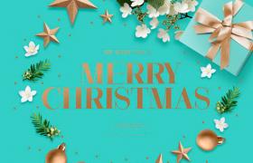 花朵礼盒小清新设计圣诞节ps平面素材下载