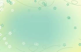 绿色小清新背景花藤蔓延生长花朵唯美旋转LED视频素材参考