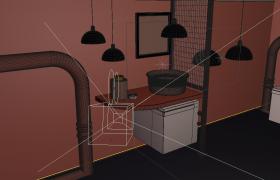 C4D预设:全新梅赛德斯奔驰房车室内造型设计模型展示