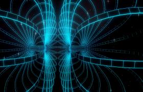 星光闪耀光线等离子对称图形缓慢旋转唯美循环高清LED视频素材