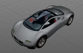 溜背式全景天窗后置W12發動機1991年奧迪avus概念跑車C4D模型
