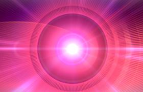 红色同心圆环转动粒子光线闪耀高清背景视频素材下载