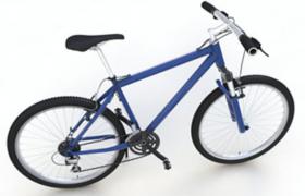轻量化设计现代极简约城市可变档自行车C4D模型展示