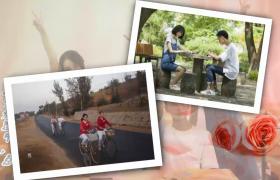覆叠图片伴随多种转场特效演绎友情爱情电子相册会声会影模板