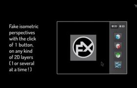 空间三维贴图透视立体效果AE脚本Aescripts IsoMatic FX V1.6破解版下载