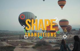 彩色动态几何元素高质量过渡转场Premiere视频预设模板