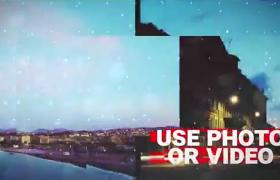 快節奏閃爍故障都市嘻哈場景動態展示片頭AE模板