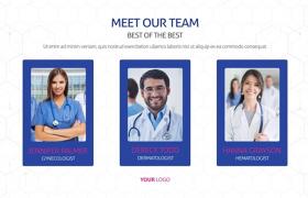 干凈簡潔科學醫療醫生健康研究團隊人物介紹宣傳片AE模板