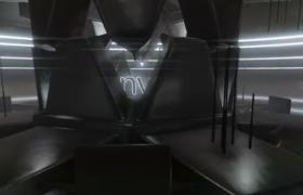 科技三維機械效果黑暗系標志展示動畫AE模板