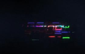 信号干扰文字闪烁碎裂拼合清晰演绎标题logo动感AE模板