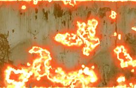复古破旧纸张瞬间被火焰点燃销毁震撼转场特效视频素材