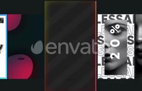 智能時尚新媒體網絡聊天頁面字幕條設計元素動畫AE模板