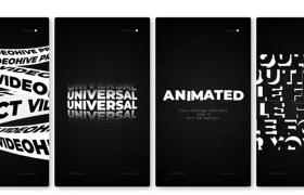創意黑白簡約文字特效圖形動畫片頭推廣AE模板