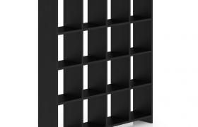黑色豪華家具室內客廳物品陳設柜C4D模型展示