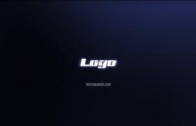 层级立体感格状线条粒子烘托现代网络科技品牌时尚logo介绍展示PR模板