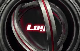 现代高科技好莱坞大片既视感圆圈多重旋转动画揭示logo片头展示PR模板