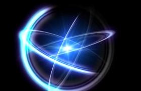 科技能量球體三向循環環繞震撼科技高清背景視頻素材