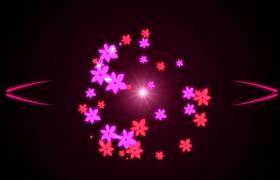紫色粉色雙色鮮花盡情綻放高清舞臺特效背景視頻素材下載