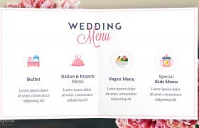 婚礼影像花卉精美图文折叠邀请卡展示aep格式AE模板下载