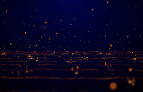 金色粒子彈跳平面文字標題翻轉展示震撼大氣2020年年歡晚會主題宣傳片頭AE視頻模板