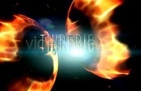 能量火焰粒子光斑閃爍文字標題開場展示aep格式AE模板下載