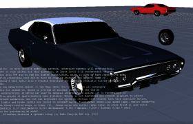 普利茅斯品牌宽口式设计美式肌肉汽车车C4D模型展示