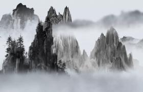 祖国山河美如画水墨动态艺术MP4特效视频素材
