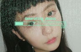 饱满的科技电子加载效果镜头推拉扭曲电子相册展示正能量PR视频模板