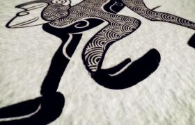猴年圖騰藝術水墨揭示新年模板edius片頭