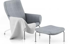 现代高端室内家居米灰色休闲懒人椅C4D模型展示(fpx,c4d格式)