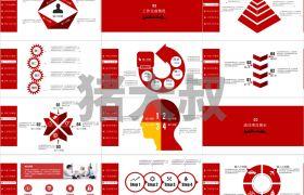 中国风格喜庆大气通用商务报告年终工作总结PPT模板下载