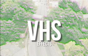 数字振幅加深效果VHS复古电影老式录像带模糊平滑过渡Premiere预设包