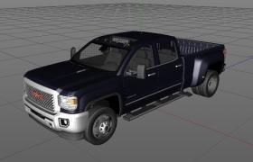 C4D美国最具标志性的皮卡货车sierra高精度模型展示(含材质图片)