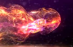 星空宇宙粒子形态快速爆炸揭示lLOGO标志开场aep格式AE模板下载