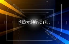 科技光线三维隧道间穿梭图文演绎企业宣传edius模板