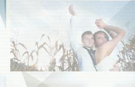 Edius模板纯白极简透明玻璃效果浪漫婚礼片头下载