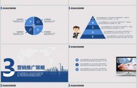 简约科技蓝色主题互联网创业计划书动态PPT模板下载