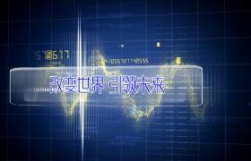 藍色方格科技背景光波數字快速演變edius企業宣傳片頭下載
