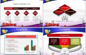 梦幻发光红色醒目节日圣诞节活动策划PPT模板下载