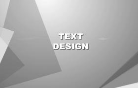 灰色幾何圖形切割效果展示影視介紹edius模板