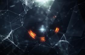 3维结晶体聚合抨击粒子转场特效未来科技风格企业年会开场PR模板