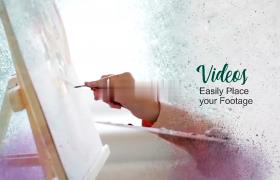 唯美彩绘艺术效果视频图片毕业展示aep格式AE模板下载