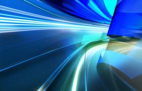 藍色三維圖形隧道般來回滑動科技風格MOV特效視頻背景