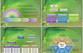 大自然清新残缺框架通用教育内容编写动态PPT模板下载