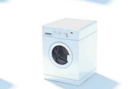 C4D家用電器:光潔靚麗的室內滾筒式洗衣機模型展示(含貼圖)