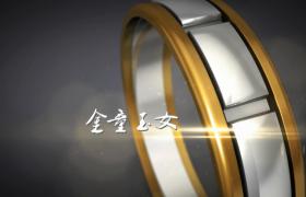 精美婚戒旋转图文效果展示edius幸福婚礼模板