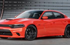 19寸超大轮毂道奇charger战马红色跑车C4D模型(参数预设可调)