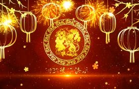 金色视觉效果粒子梅花掉落鼠年大吉新年快乐文字展示片头素材